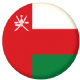 Oman Country Flag 58mm Mirror Keyring